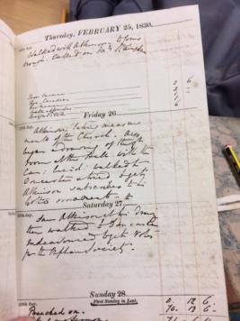 CSS diary 1830-1
