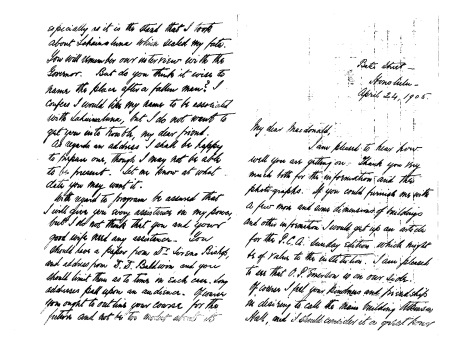 1905 04 24 Letter from A T Atkinson to C A MacDonald Lahainaluna