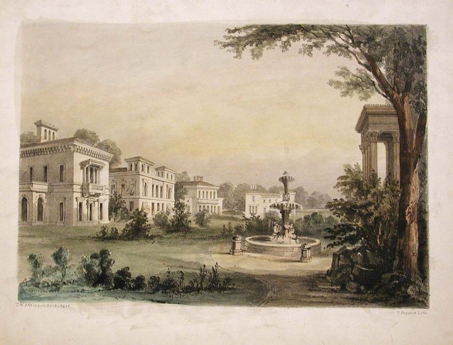 Designs for Italianate villas Indianapolis museum