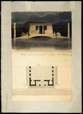 Architectural design for a monumental chapel by Alfred Clayton - 1815