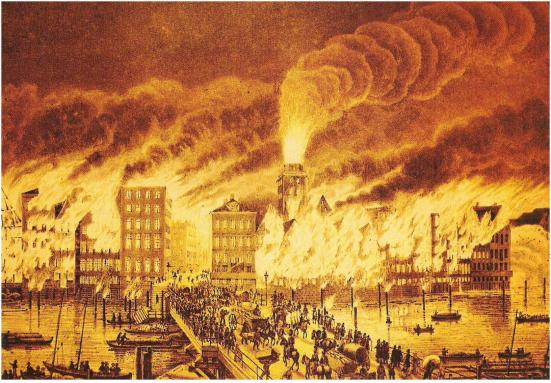 Peter Suhr-Great fire in Hamburg1842